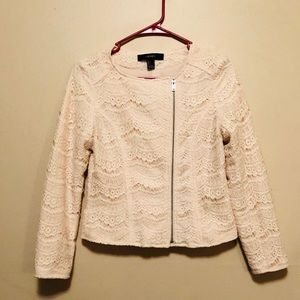 21 Cream Lace Jacket